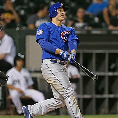 Anthony Rizzo gives the Cubs a 3-2 lead with a two-run roundtripper in the third inning on the South Side.  (Getty Images)