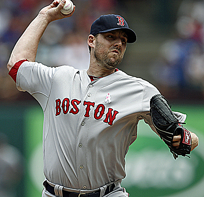 John Lackey strikes out nine over seven innings of work as the Red Sox move back above .500.  (USATSI)