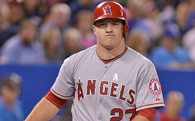 Even the best struggle -- two-time MVP runner-up Mike Trout is 4 for 34 with 12 strikeouts in May. (USATSI)
