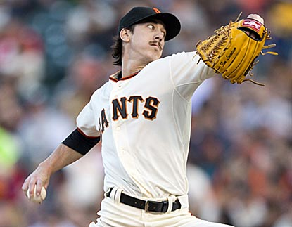 Tim Lincecum records the 36th double-digit strikeout game, and improves his career record against Atlanta to 9-6.  (Getty Images)