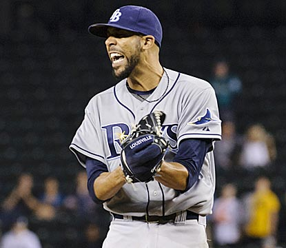 David Price exults after retiring the final Mariners batter. Price strikes out 12 while allowing only one run and six hits.  (USATSI)