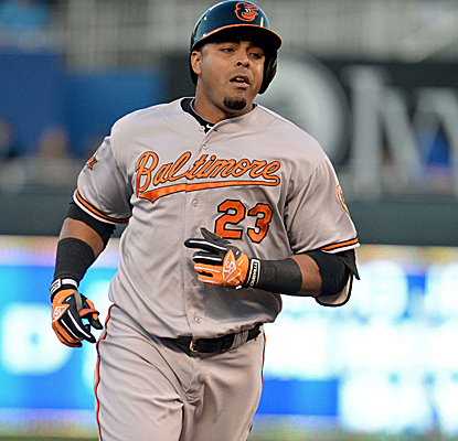 Nelson Cruz connects for his 12th home run of the season, second in the AL, as the O's snap a four-game skid.  (USATSI)