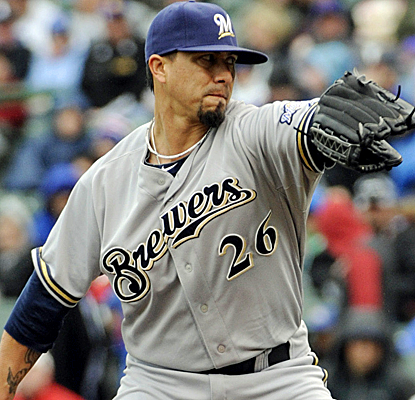 Kyle Lohse goes seven innings for his first win in three weeks as the Brewers edge the Cubs.  (USATSI)