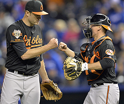 Chris Tillman is lights out on Friday, going the distance against the Royals for his first career shutout.  (USATSI)