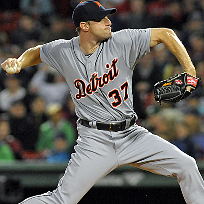 Max Scherzer throws six shutout innings to win his sixth straight start, and the Tigers blank the Red Sox.  (USATSI)