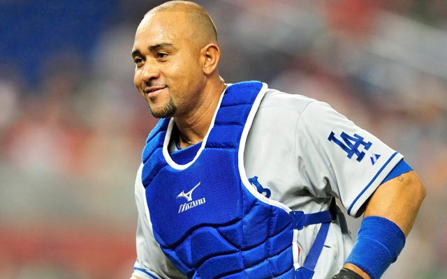 Miguel Olivo recently played for the Dodgers. (USATSI)