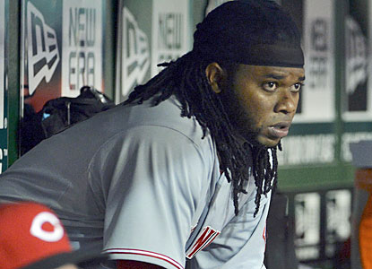 Johnny Cueto, who hasn't allowed more than two runs in a start before Tuesday, gives up a season-high six in the blowout.  (USATSI)
