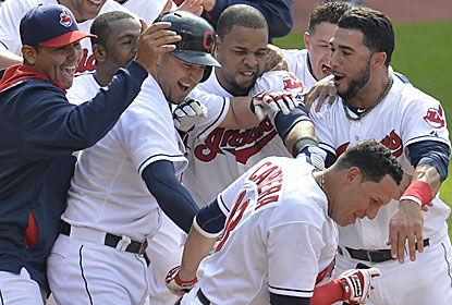 Asdrubal Cabrera scores on Al Alburquerque's bases-loaded balk to win it for Cleveland. (USATSI)