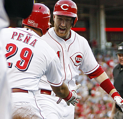 Todd Frazier connects for a three-run home run as the struggling Reds knock off the Cardinals.  (USATSI)