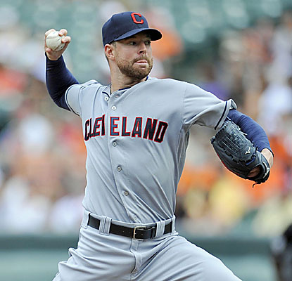 Corey Kluber, who strikes out nine in seven shutout innings, is 3-0 with a 2.02 ERA and 48 K's in the month of May. (USATSI)