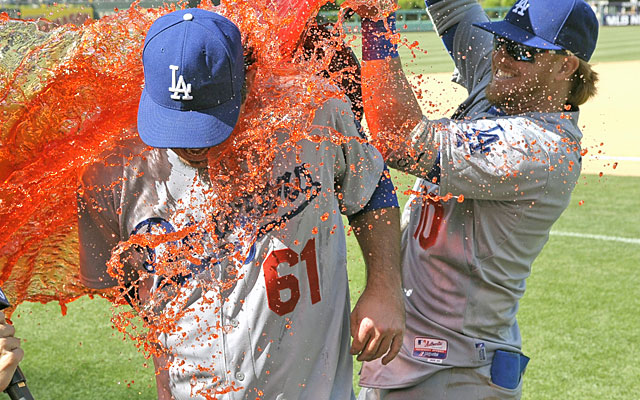Josh Beckett earned a Gatorade shower with his first career no-hitter Sunday in Philly. (USATSI)