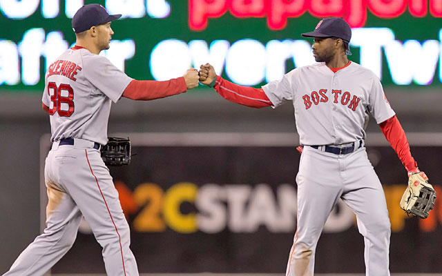 Punchless Grady Sizemore and Jackie Bradley Jr. are helping to drag down the Red Sox. (USATSI)