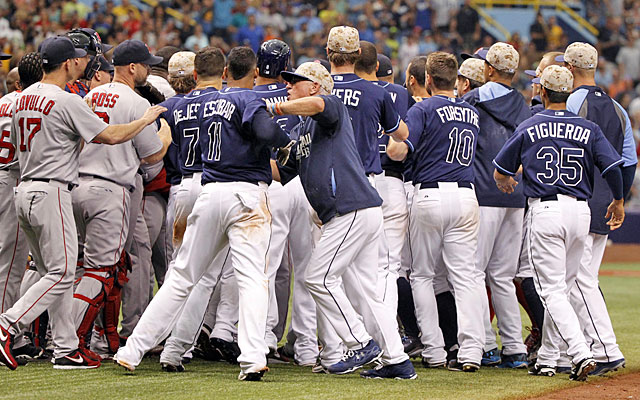 The Red Sox and Rays have gone in opposite directions since their ugly confrontation Sunday. (USATSI)