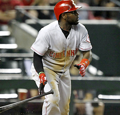 Brandon Phillips notches a pair of run-scoring singles as the Reds finally give Johnny Ceuto some run support.  (USATSI)