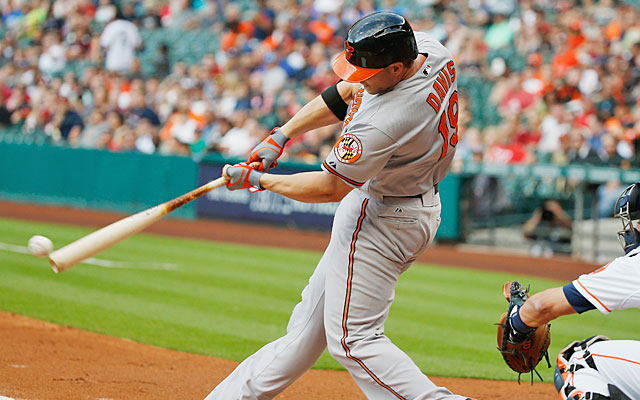 Contact has been fleeting lately for Chris Davis, who has 13 strikeouts in his past 25 ABs. (Getty Images)
