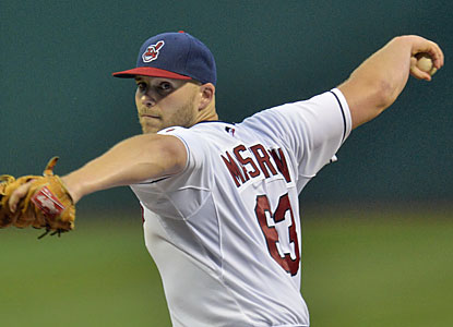 Justin Masterson strikes out a season-high 10 batters to help the Indians cool off the red-hot Red Sox. (USATSI)