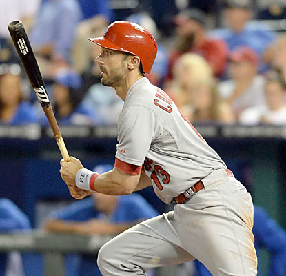 It's a career night for Matt Carpenter, who finishes 5 for 5, including the go-ahead double in the 11th inning. (USATSI)