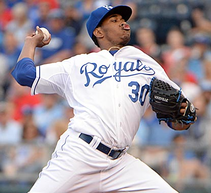 Yordano Ventura is back firing bullets for the Royals again. He holds down the Cardinals despite striking out only one.  (USATSI)