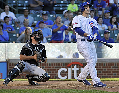 Cubs slugger Anthony Rizzo cranks a homer to right in the bottom of the 13th inning to beat the Marlins. (USATSI)