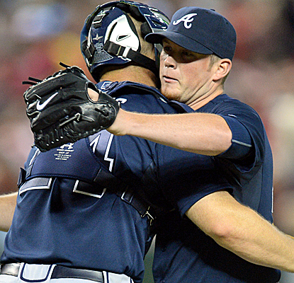 Craig Kimbrel reocrds his 155th career save with the Braves, passing John Smoltz for the franchise record.  (USATSI)