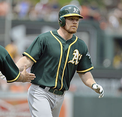 Brandon Moss hits a grand slam as his Athletics hand the O's their most lopsided loss of the season. (USATSI)