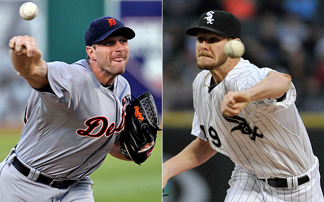 Thursday offers a dynamic pitching matchup -- Max Scherzer vs. Chris Sale in Chicago. (USATSI)