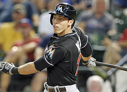 Christian Yelich (four hits, four RBI) helps Miami earn a record-tying 13th straight interleague win. (USATSI)