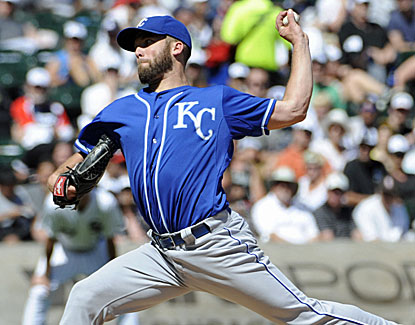 Danny Duffy strikes out nine and scatters five hits over seven-plus shutout innings for Kansas City. (USATSI)