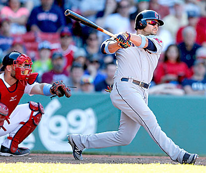Nick Swisher rediscovers his power at a big moment for the Indians.  (Getty Images)