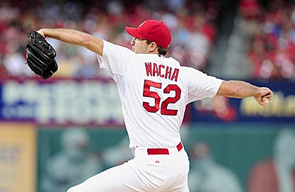 Michael Wacha pitches out of three jams en route to earning his first career victory against the Mets.  (USATSI)