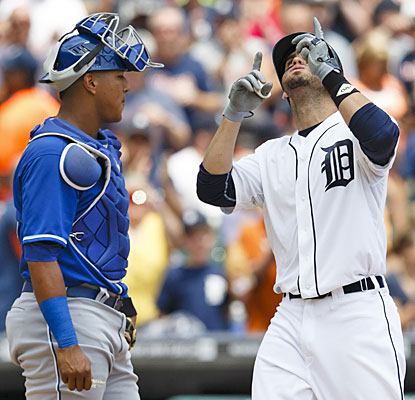 Detroit's J.D. Martinez has a nine-game hitting streak after his solo home run in the sixth inning. (USATSI)