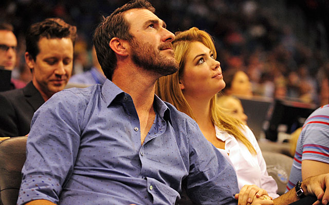 Justin Verlander and Kate Upton, frequent visitors to non-baseball sporting events. (USATSI)