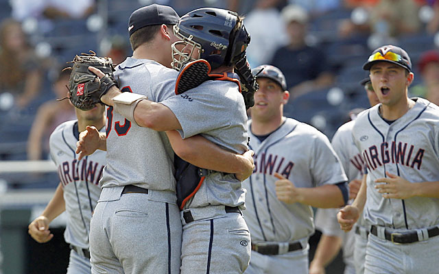 Pitcher Nick Howard (left) and the Cavaliers earn themselves a trip to the finals. (USATSI)