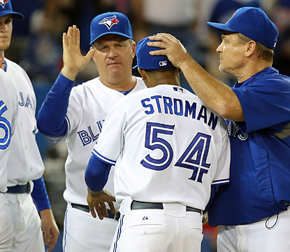 Jays rookie Marcus Stroman, who pitches a career-high eight innings, earns his first win in three starts. (USATSI)