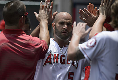 Albert Pujols has three hits for LA, which completes its first perfect homestand with at least six games since 2004. (USATSI)