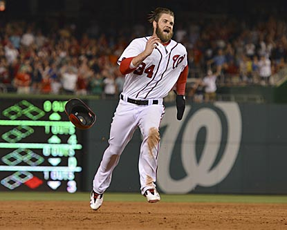Bryce Harper brings his bat and his hustle back to Washington, and the Nationals win in his return.  (USATSI)