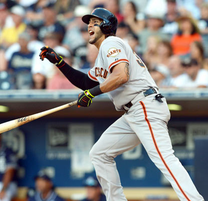 Michael Morse is pumped after belting the tying home run off Padres closer Huston Street in the ninth inning.   (USATSI)