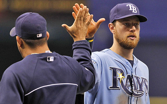 Versatile Ben Zobrist still has another year on his contract with the Rays. (USATSI)