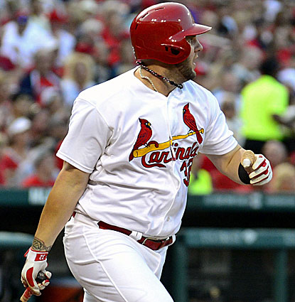 Matt Adams comes through with three hits for the Cardinals, including a double, his 22nd this season. (USATSI)