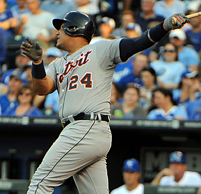 Miguel Cabrera drives in a run, helping the Tigers stretch their AL Central lead to 6 1/2 games.  (USATSI)