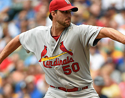 Adam Wainwright pitches seven strong innings for the Cardinals. He moves to 12-4 on the season. (USATSI)