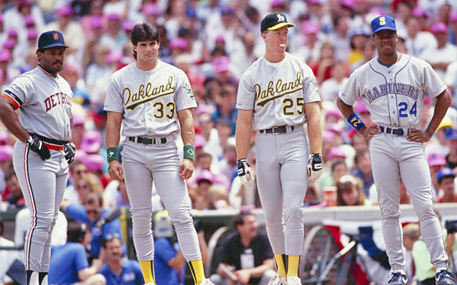 Cecil Fielder, Jose Canseco, Mark McGwire, Ken Griffey Jr. combined for 1,994 career home runs. (Getty Images)