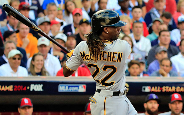 Reigning NL MVP Andrew McCutchen is still producing at the plate and in the field. (Getty Images)
