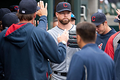 Corey Kluber strikes out 10 as he comes within an out of the second complete game of his career. (USATSI)