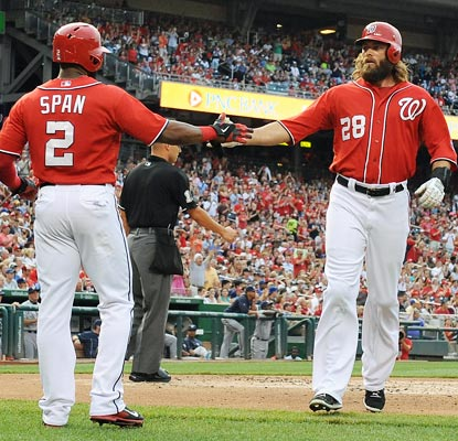 The Nationals hand Matt Garza the shortest start of his career in an easy win over the Brewers.  (USATSI)