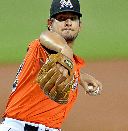 Brad Hand gives the Marlins' shaky rotation a welcome boost by pitching seven innings to match a career high. (USATSI)