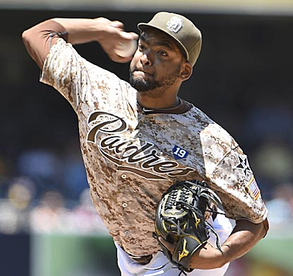 Odrisamer Despaigne, in his fifth major-league outing, almost creates franchise history for the Padres.  (Getty Images)
