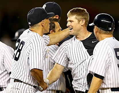 It's a full, rich day for Chase Headley, who flies in from Chicago, shaves off his beard and becomes a hero.  (Getty Images)