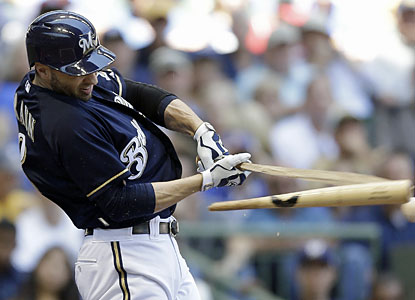Ryan Braun and the Brewers hand the sliding Reds their sixth straight loss since the All-Star break. (Getty Images)