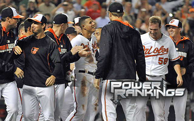 The Orioles got to celebrate another victory over the Angels on Tuesday night. (USATSI)